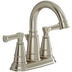 American Standard�Thayer Satin Nickel 2-Handle 4-in Centerset WaterSense Bathroom Sink Faucet (Drain Included)