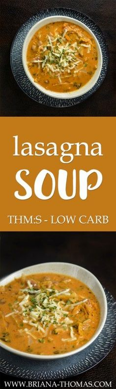 This Lasagna Soup is thick, hearty, and budget-friendly!  THM:S - low carb - low glycemic - sugar free - gluten free - egg free - nut free