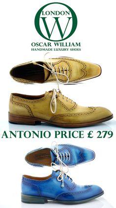 Handmade luxury full brogue in different colors gentlemen footwear