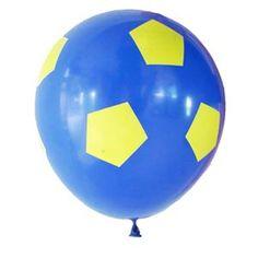 Globos pelota de futbol azul y amarillo 10u - Decoracion Ambientacion Cotillón Fiestas y Cumpleaños