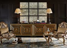 Majorca Credenza | Marge Carson Media Cabinet, Majorca, Cocktail Tables, Home Collections, Credenza, End Tables, Dining Table, Traditional, Furniture