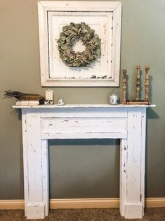 Rustic Distressed Fireplace Surround Free Shipping | Etsy Distressed Fireplace, Wooden Fireplace Surround, Fireplace Beam, Floating Fireplace, Farmhouse Fireplace Mantels, Fireplace Mantel Surrounds, Wood Fireplace Mantel, Vintage Fireplace, Fireplaces