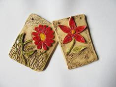Keramické kachle - květiny