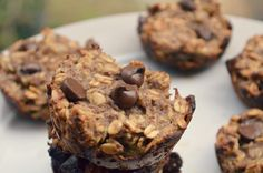 Banana chocolate chip muffins  #vegan #glutenfree and no sugar or sweetener! Six simple ingredients.