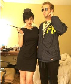 The most perfect couple's Halloween costume.