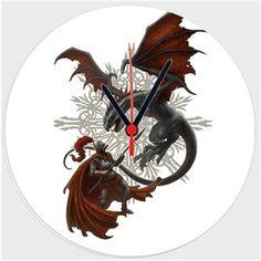 Kerem Beyit - Knight and Dragon Kendin Tasarla - Duvar Saati 27cm