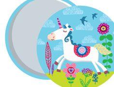 Unicorn Pocket mirror design © Kaz Lammie