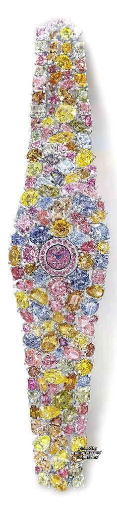 Graff Diamonds ~ multicolored diamond Hallucination Watch