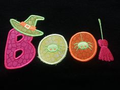 BOO Halloween Applique by AuntieJshoppe on Etsy, $7.00
