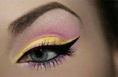 sombra amarilla y rosa