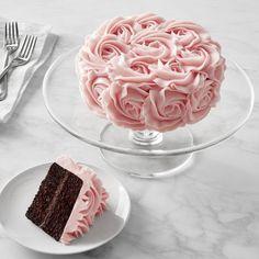 Pink Rose Chocolate 2-Layer Cake