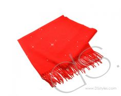 Starry Sky Bling Crystal Scarf - Red                    http://www.dsstyles.com/product/starry-sky-bling-crystal-scarf---red