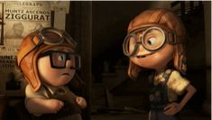 "There's a point in every friendship where we take a chance and say ""welcome aboard,"" and you invite someone into your life. We just hope it always happens while wearing goggles. Carl & Ellie #Up"