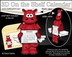 3D On The Shelf Everlasting Calendar Kit - Little Friendly Dragon Titan