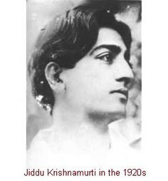 Jiddu Krishnamurti - a philosopher, writer and international lecturer, 1895-1986.
