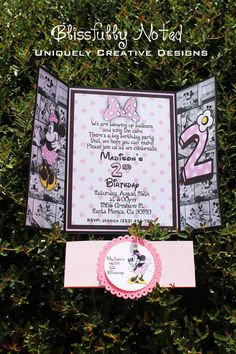 10 Pink Minnie Invitations por BlissfullyNoted en Etsy