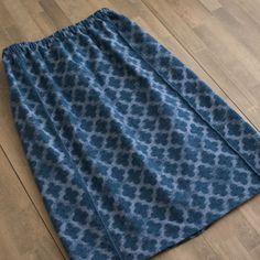 久留米絣で作る、型紙がいらないスカート。