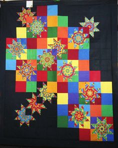 Wow! T-Pure Color by Linda Rotz Miller Quilts & Quilt Tops, via Flickr