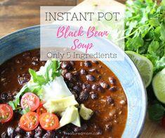5 Ingredient Instant Pot Black Bean Soup