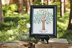 Michaels.com Wedding Department: Celebrate It™ Thumbprint Tree Think wedding guest book with a twist! Impress friends and family with this personalized thumbprint tree idea. Use ink pads that coordinate with your wedding colors.