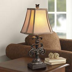 Classical Furnishings Resin Table Lamp Luxury Fabric Shade Table Lamp For Bedroom Lobby Table Lamp Abajur De Mesa Lamparas #Affiliate