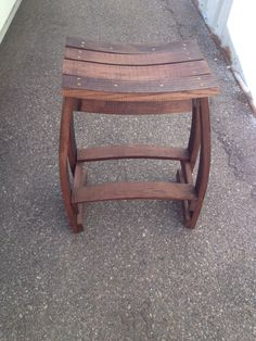 Wine Barrel Stave Bar Stool by BarrelArtLLC on Etsy, $225.00