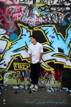 Graffiti... Outdoor photography... Senior portrait