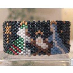 Beaded Nativity Tea Light Cover / Napkin Ring Pattern   Bead-Patterns.com