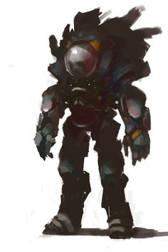 Robot 1 by ~Zoonoid on deviantART.  Great silhouette, interesting while simple in detail