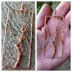 I make these Tree Goddess pendants from reclaimed copper wire. This particular one is already made, ready to ship out!     I can customize one just for you, varying the size and I can also add crystals, pearls or gemstone beads. Send me a message if you would like one made for you.