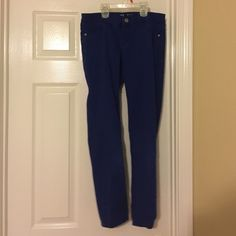Dark Blue, Low Waist Ankle Jeans Lightly worn, like new. New York & Company Jeans Ankle & Cropped