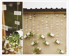 escort card hanging display