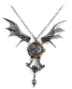 NEW Icarus Ex Machina Alchemy Gothic Necklace-FREE S/H