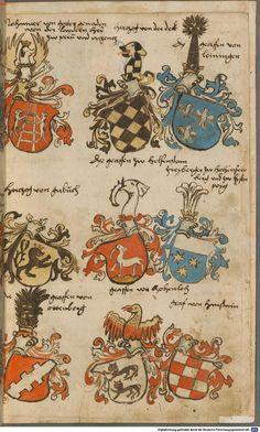 Wappen besonders von deutschen Geschlechtern Süddeutschland ?, 1475 - 1560 Cod.icon. 309  Folio 5r