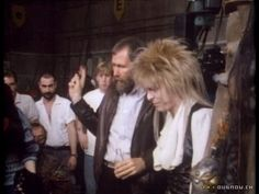 "Jim Henson on the set of ""Labyrinth"" (1986)"