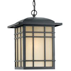 "Buy the Quoizel HC1913IB Imperial Bronze Direct. Shop for the Quoizel HC1913IB Imperial Bronze Hillcrest 1 Light 13"" Wide Outdoor Pendant Lantern with Opaque Linen Glass and save."