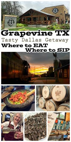 Head out for a getaway to Grapevine Texas! Things to do include delicious restaurants, sipping wine, and enjoying the small town charm of a city just in the outskirts of Dallas and Fort Worth!