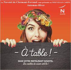 Le Novotel de Clermont-Ferrand vous présente sa NOUVELLE CARTE Automne-Hiver A déguster dès Aujourd'Hui ! A découvrir sur http://www.hotel-novotel-clermontferrand.com/fr/restauration/restaurant.html