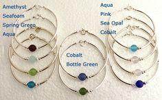 Cape Cod Sterling Silver Seaglass Bracelets