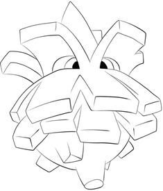 Pineco Coloring Page From Generation II Pokemon Category Select 25938 Printable Crafts Of Cartoons Nature Animals Bible And Many More