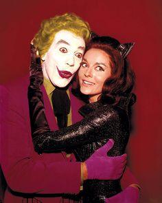 Cesar Romero as Joker and Lee Meriwether as Catwoman.