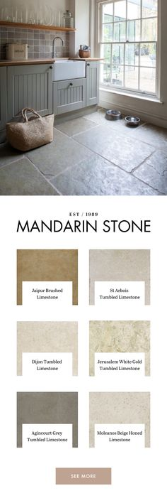 Mandarin Stone offer a wide range of stylish limestone tiles in natural tones from light to dark. Home Decor Kitchen, Kitchen Interior, Kitchen Design, Kitchen Ideas, Mandarin Stone, Up House, House Extensions, Kitchen Flooring, Architecture Colleges