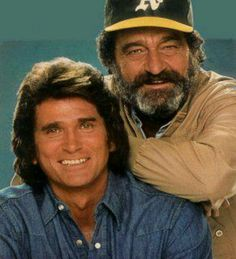 "Michael Landon and Victor French from ""Highway to Heaven"". A great pair of actors who starred in a positive and heartwarming series from the 80's."