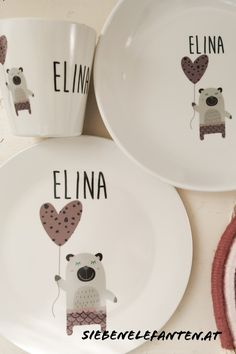 Decorative Plates, Trends, Pink, Childrens Gifts, Baby Giveaways, Elephants, Other, World