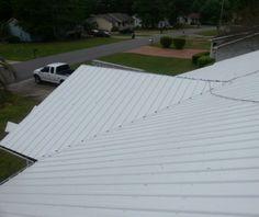 Seafoam White Master Rib Metal Roof Panels