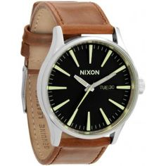 Buy the Nixon Sentry Leather here. The Nixon Sentry Leather keeps a vigilante hold on all the essential components fitting for a timepiece. With 3 hand Japan. Saddle Leather, Tan Leather, Mens Watches Leather, Watches For Men, Nixon Watches, Fancy Watches, Luxury Watches, Mens Fashion, Stuff To Buy
