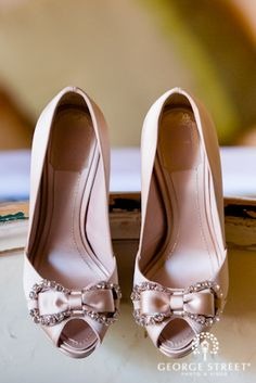 These to-die-for pink wedding shoes are the definition of glam!