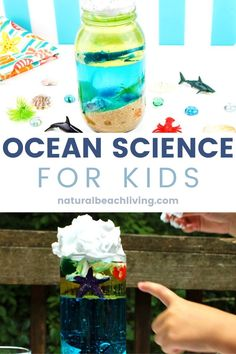 Ocean Science for Kids - Easy Ocean Life Experiment Kids Love - Natural Beach Living Sea Activities, Preschool Learning Activities, Preschool Science, Science For Kids, Science Experiments For Preschoolers, Density Experiment, Ocean Crafts, Unit Studies, Sea Theme
