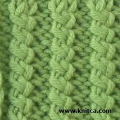 Right side of knitting stitch pattern – Ribbing 2