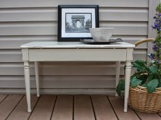 Upcycled piano bench. (SOLD)